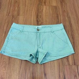Forever 21 Green 100% Cotton Shorts
